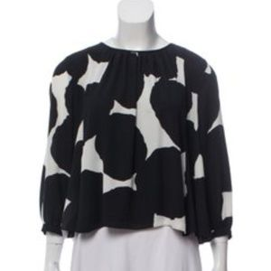 Tops - Kate Spade Abstract Print Large Blouse